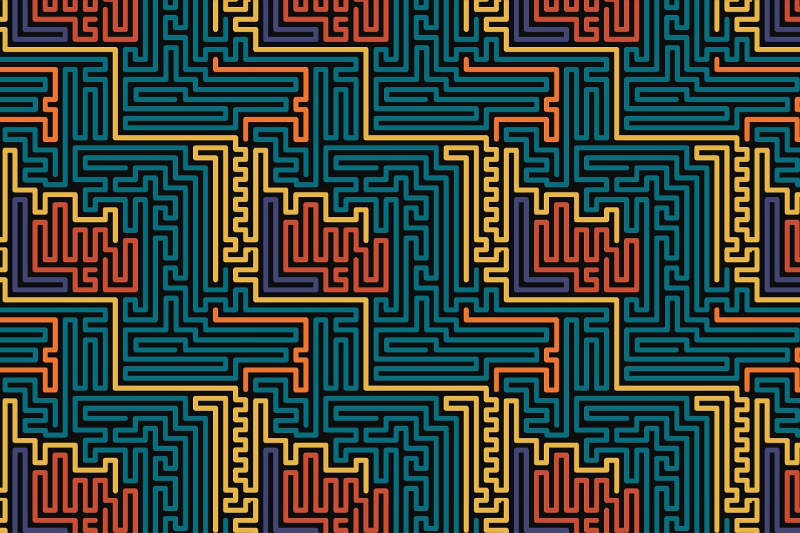 Colorful seamless striped patterns. example image 8