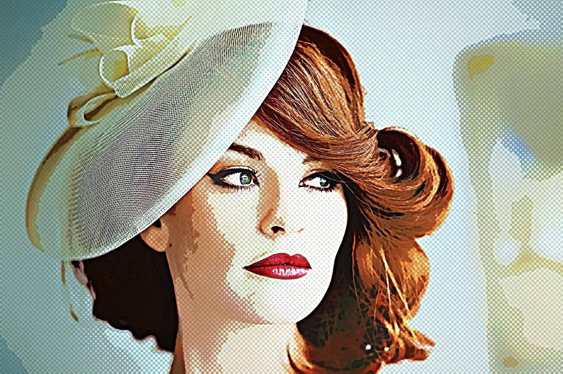 Retro Art - Photoshop Action example image 2