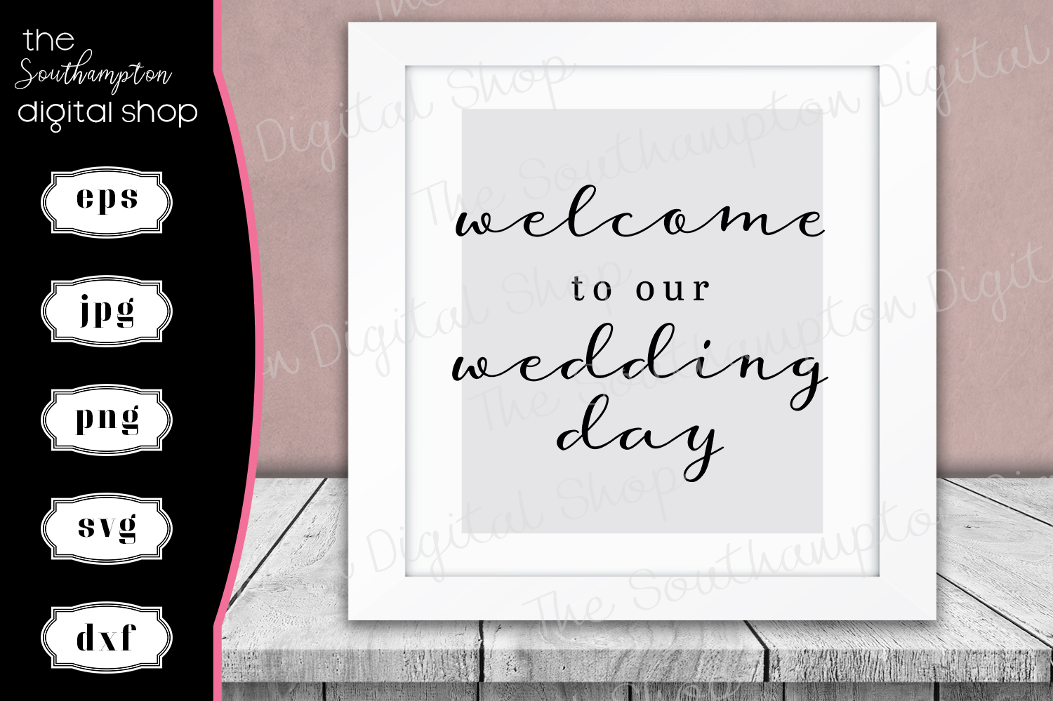 Welcome To Our Wedding Day example image 1