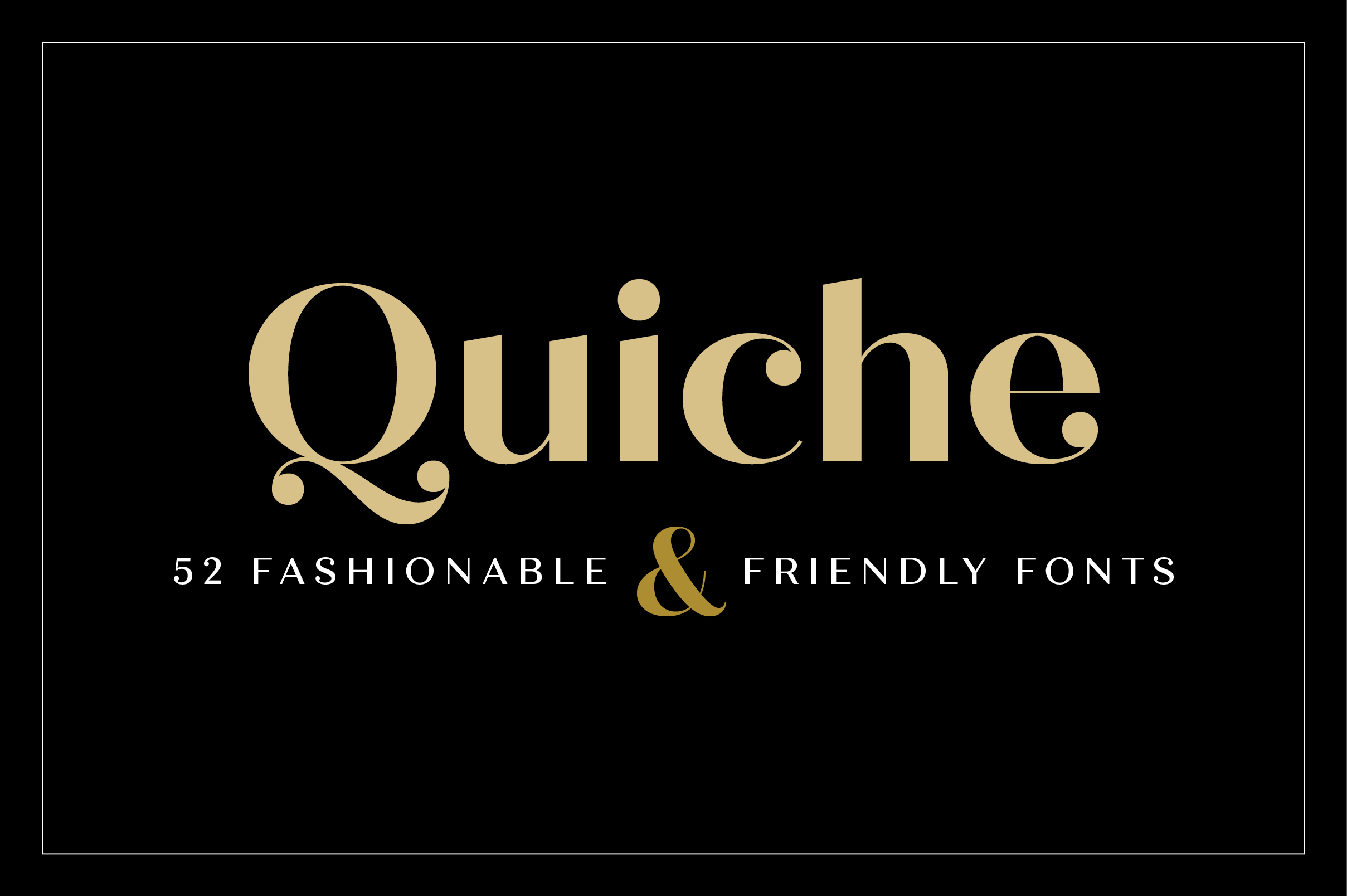 Quiche Font Family example image 25