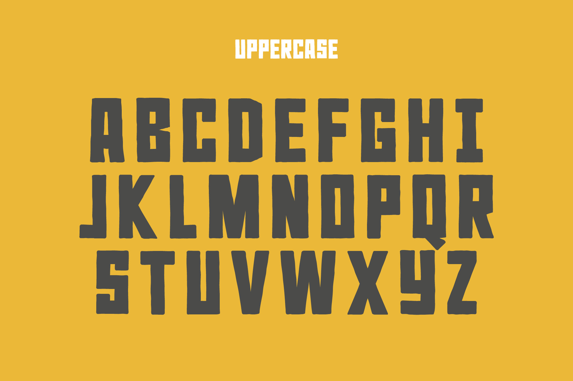 Rocky Ryder - a rough and rugged font example image 3