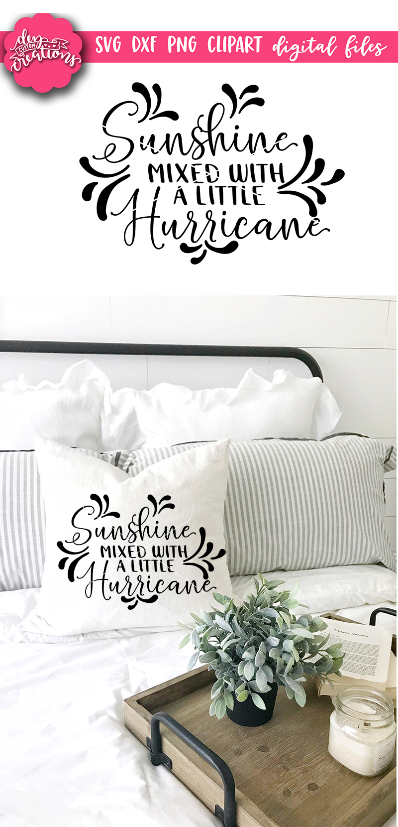 Sunshine Mixed With A Little Hurricane - SVG DXF PNG digital example image 2
