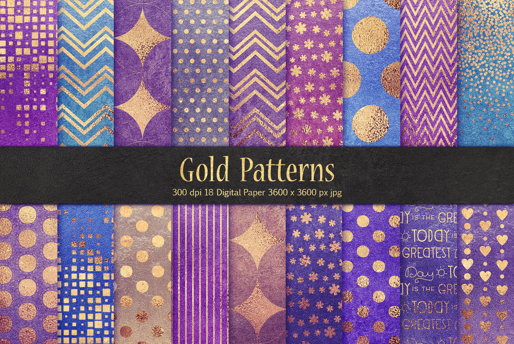 Gold Pattern & Textures example image 1