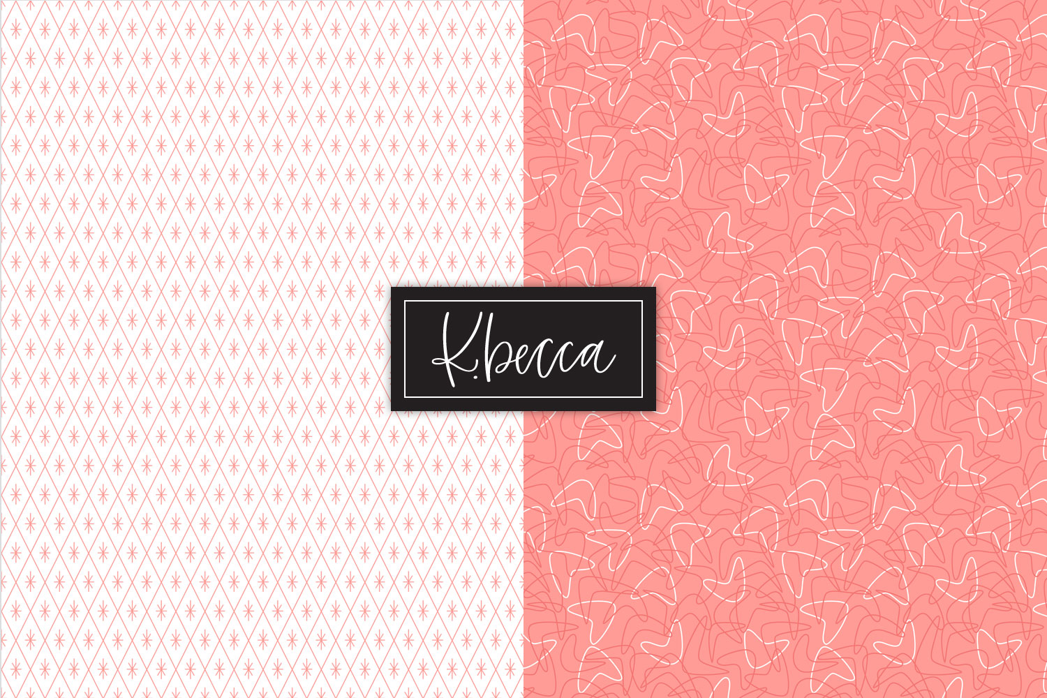 Retro 1950s Background Patterns Seamless example image 4