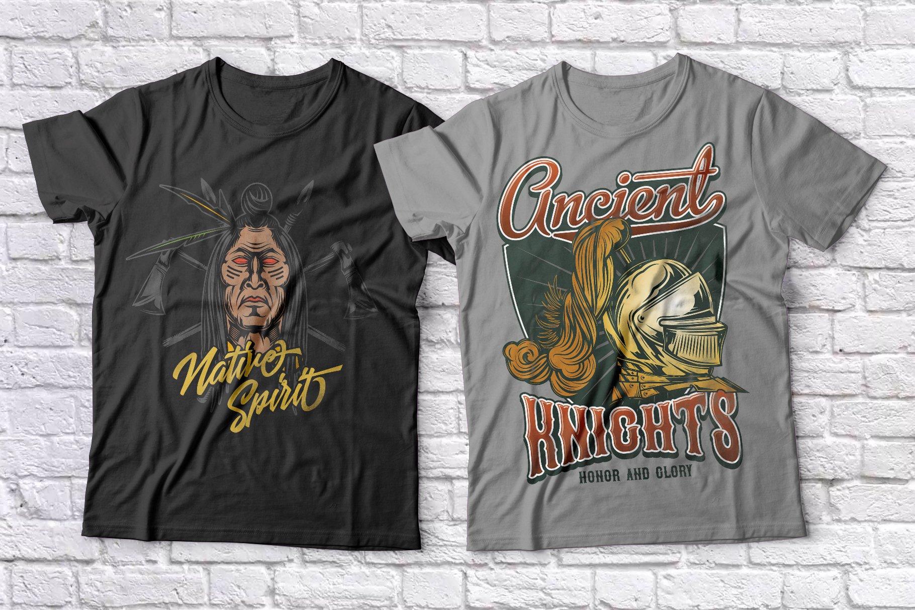 Warriors t-shirts set example image 4