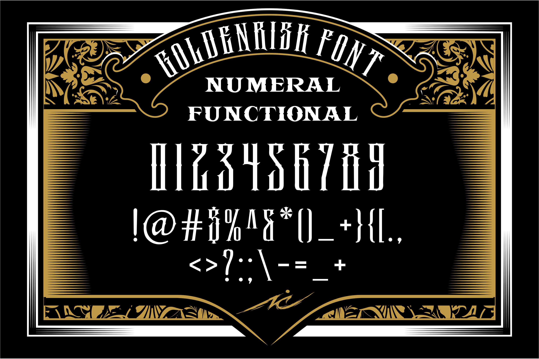 GOLDENRISK FONT example image 4