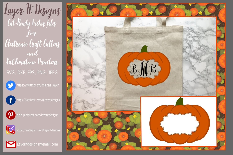 Pumpkin/ Monogram Pumpkin Frame Design File example image 5