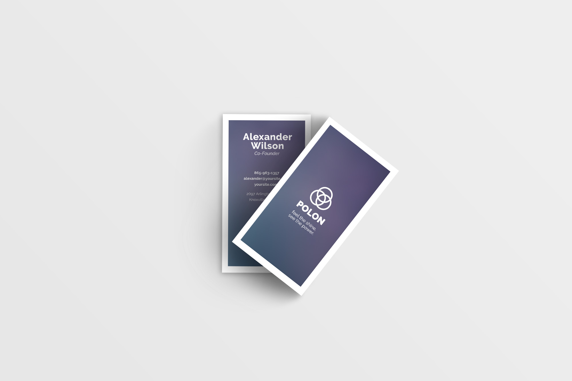 Polon - A Modern Business Card Template example image 4