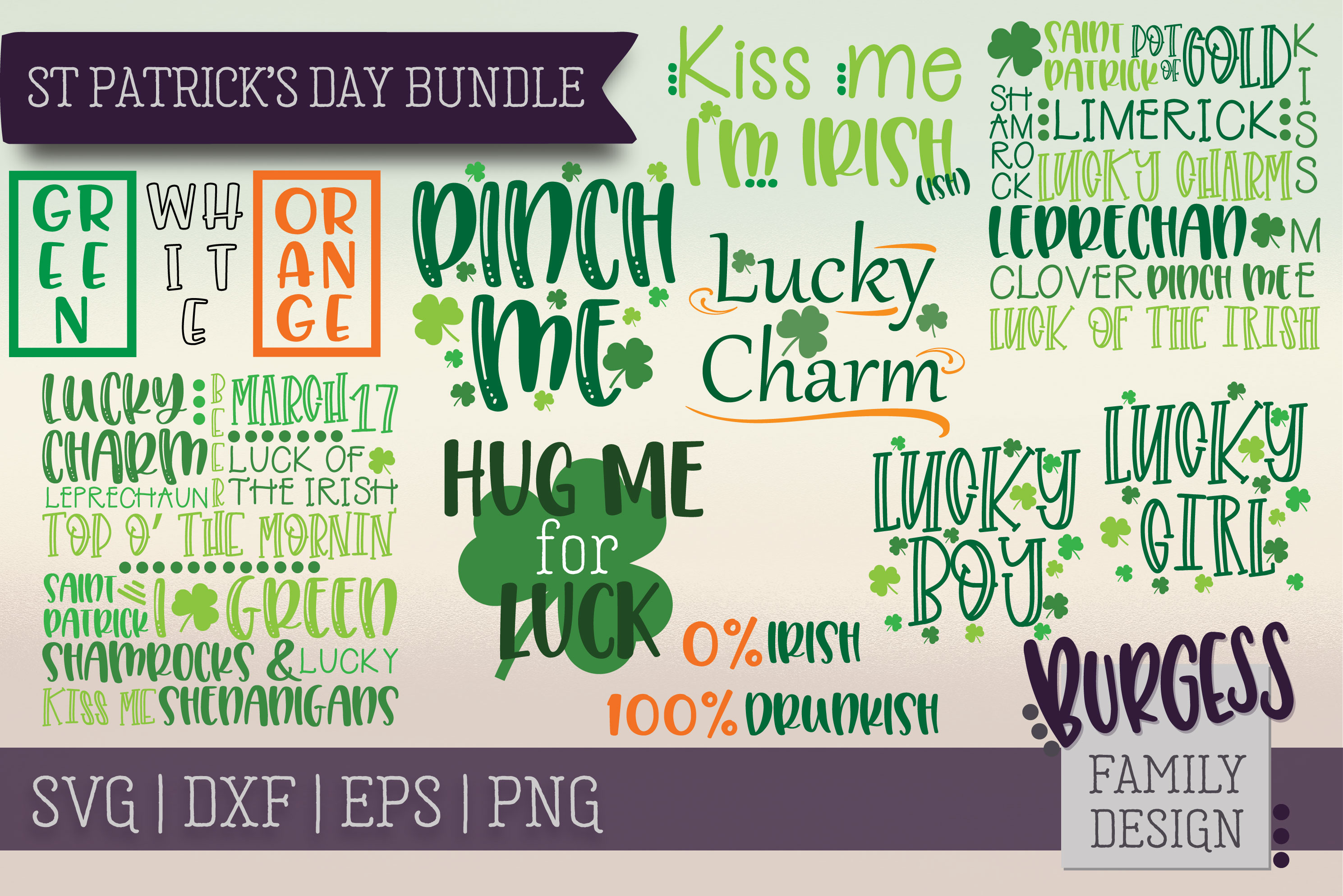 St Patrick's Day Bundle | SVG DXF EPS PNG example image 1