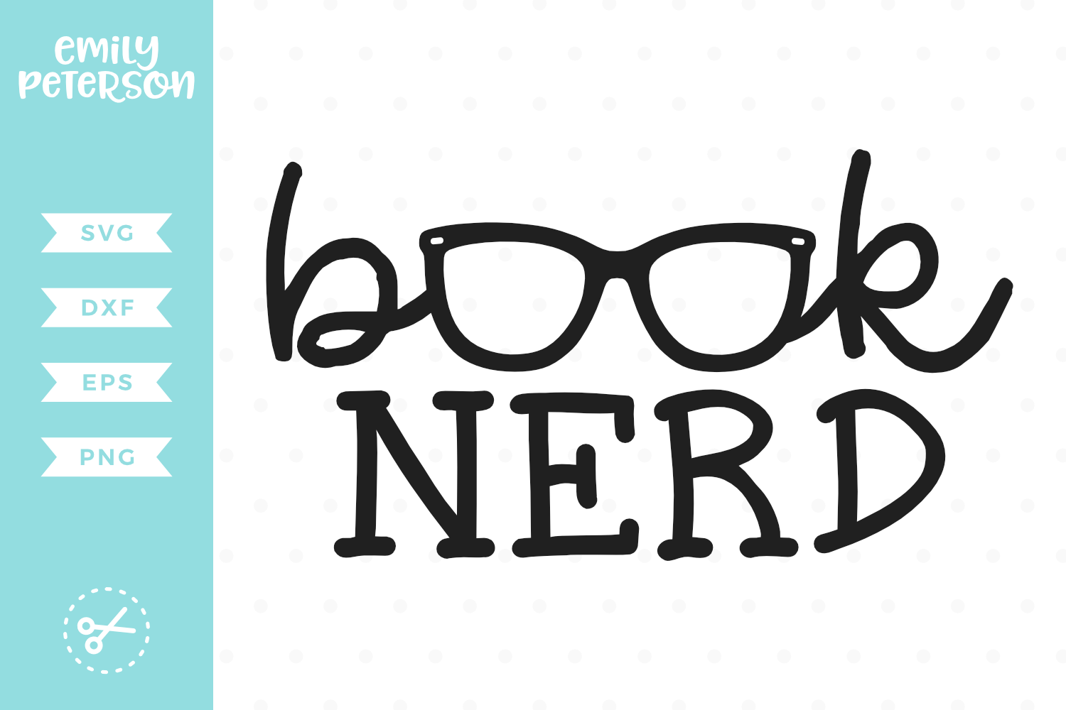 Book Nerd SVG DXF EPS PNG example image 1