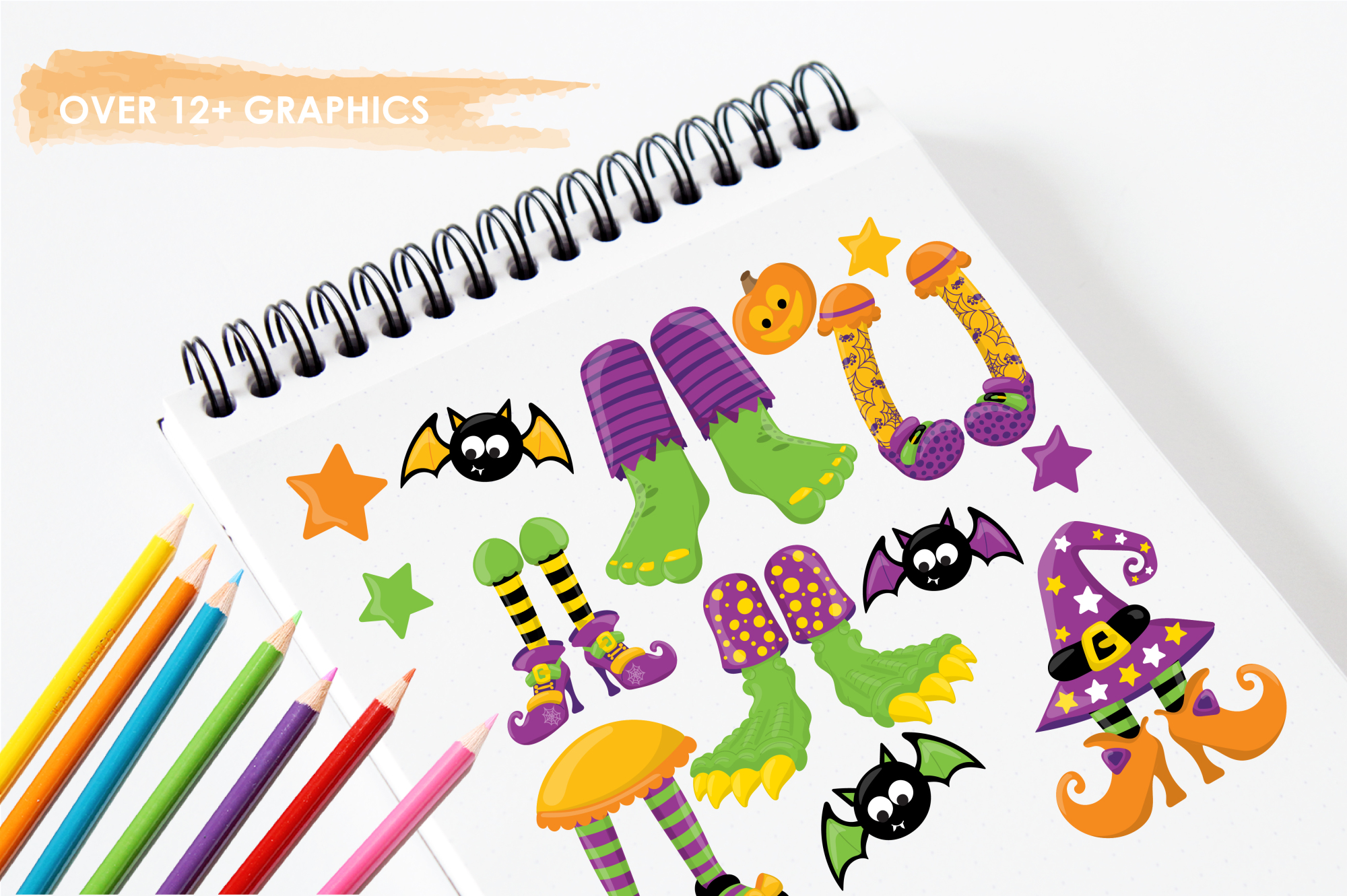 Halloween Feet graphics and illustrations example image 3