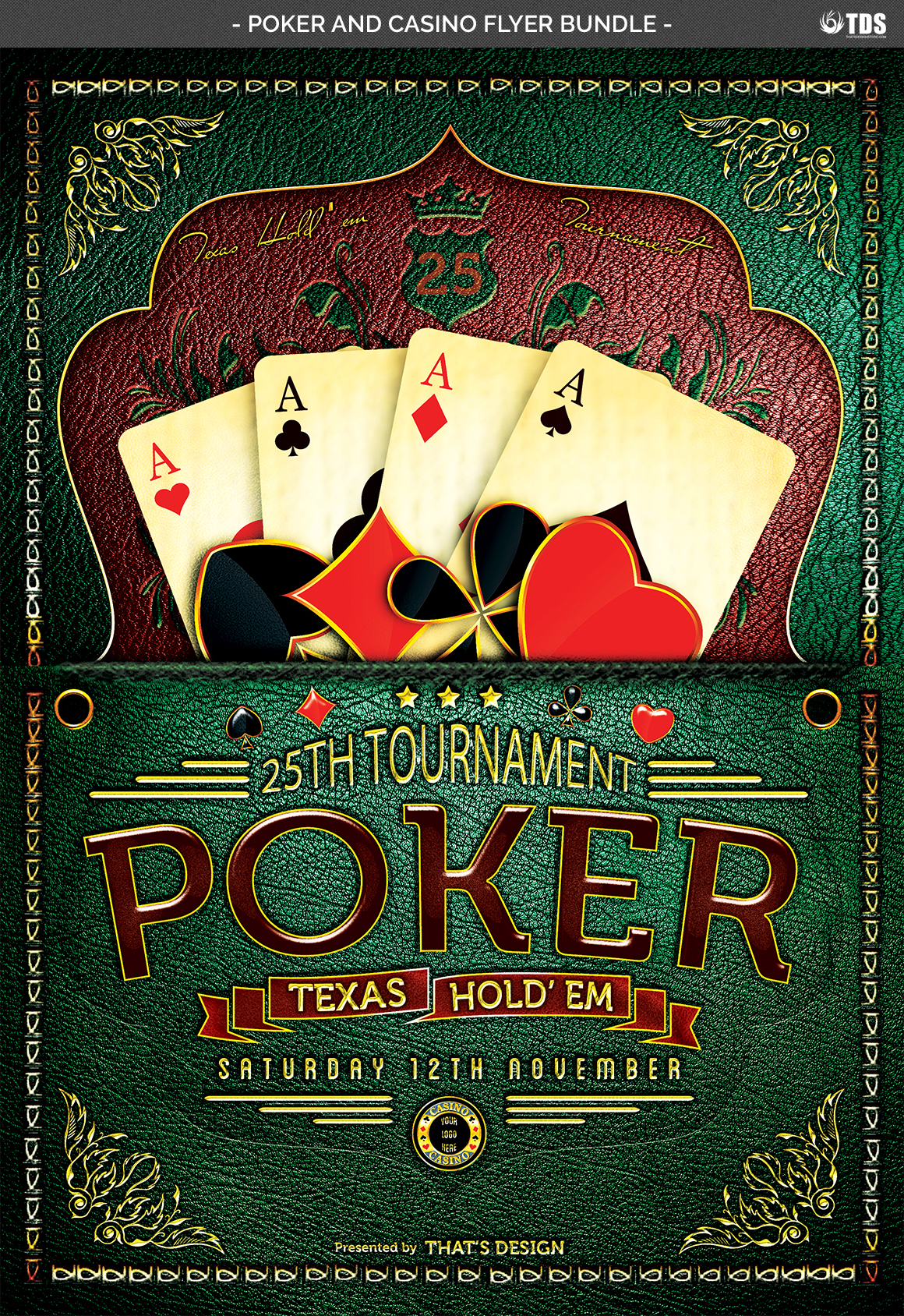 Poker and Casino Flyer Bundle example image 5