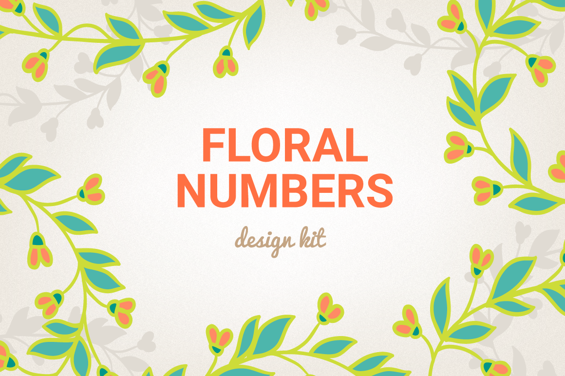 Floral Numbers example image 1