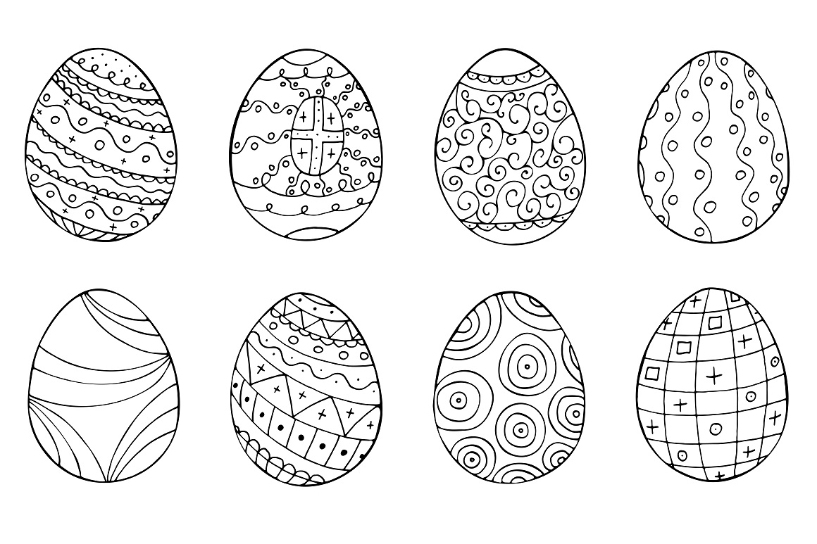 Easter eggs collection + patterns. example image 4