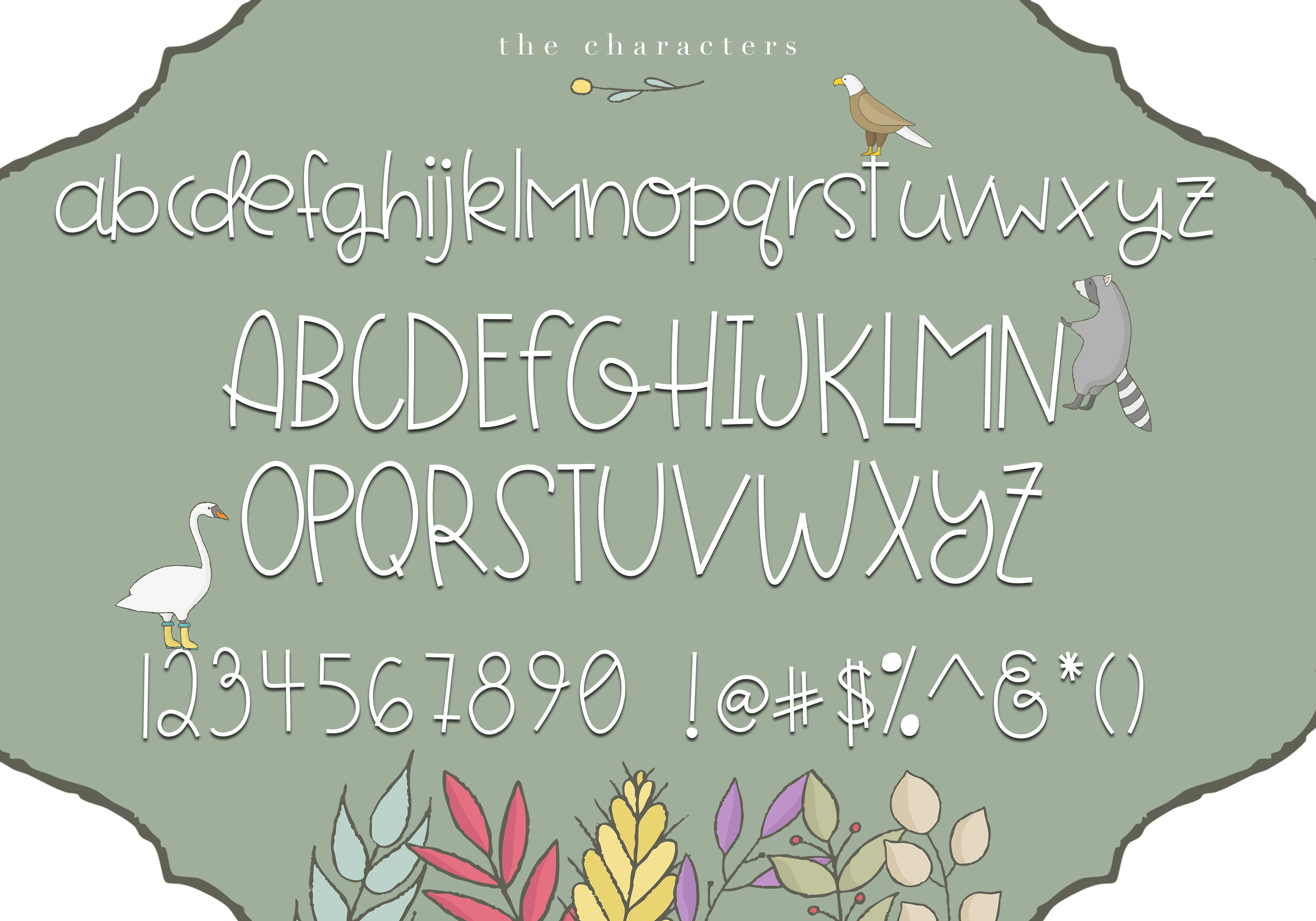 Forest Friends - A Handwritten Font example image 6