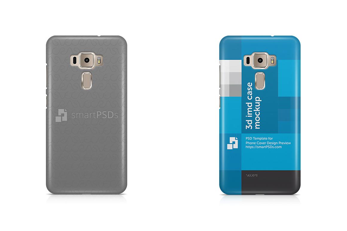 Asus Zenfone 3 ZE520KL 3d IMD Mobile Case Design Mockup 2016 example image 2