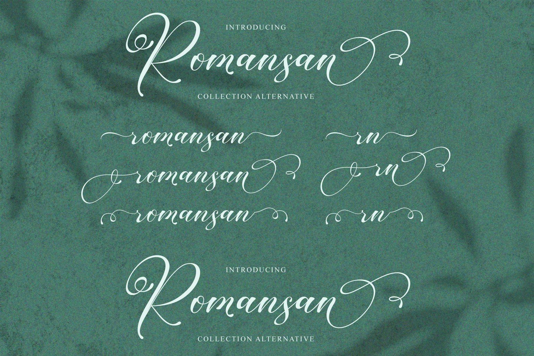 Romansan | Romantic Calligraphy example image 10