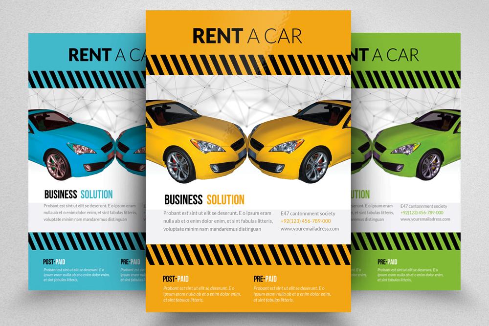 6 Rent A Car Flyers Bundle example image 2