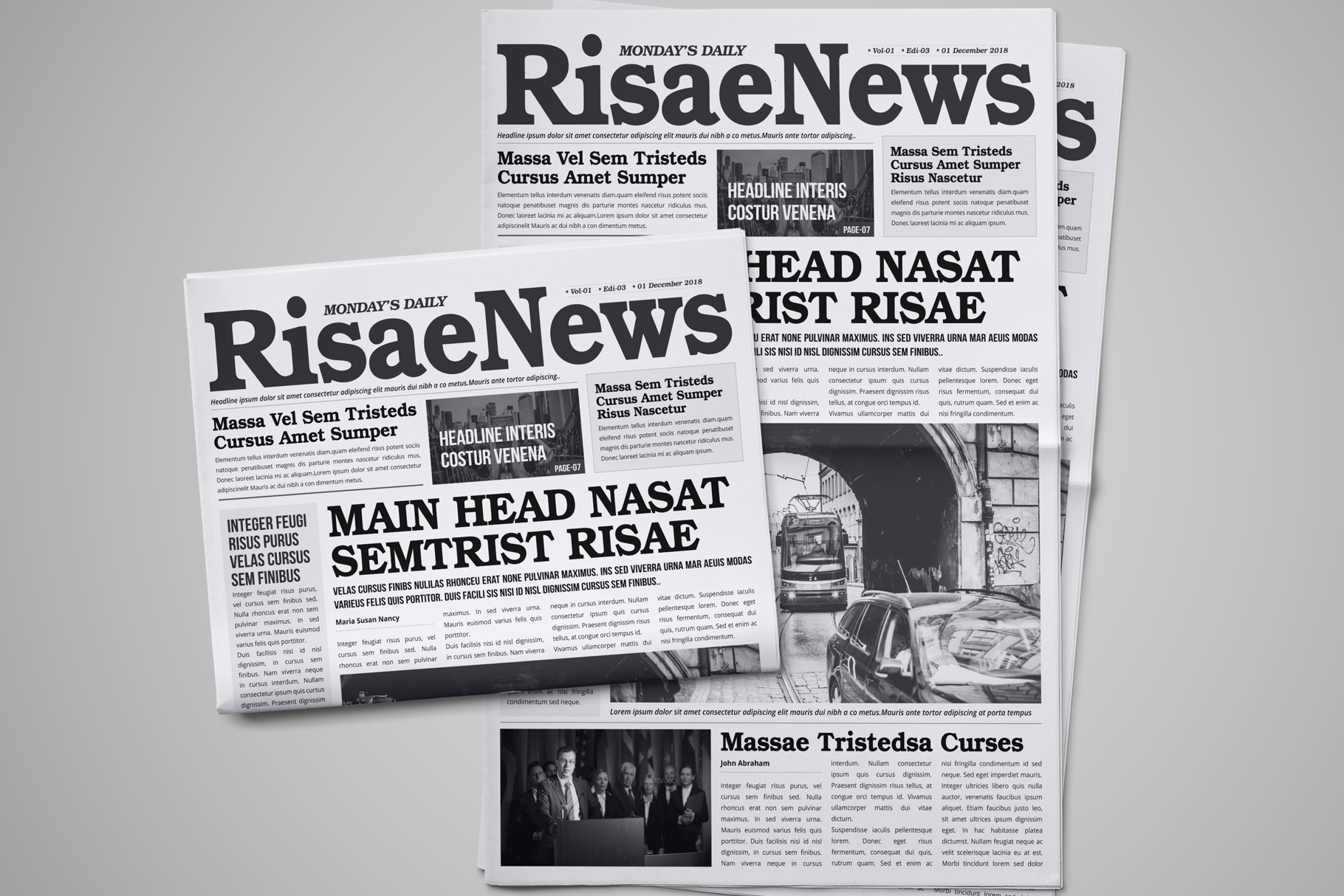 Newspaper Design Bundle - 3 in One example image 5