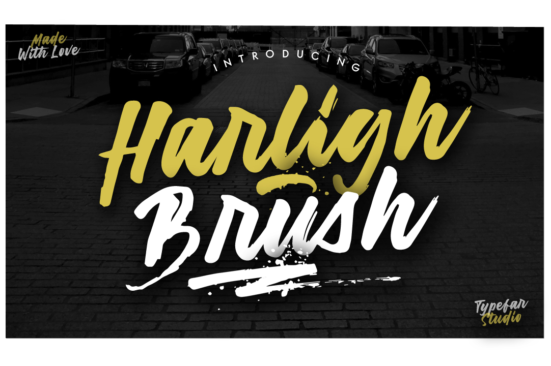 Harligh Brush Font example image 1