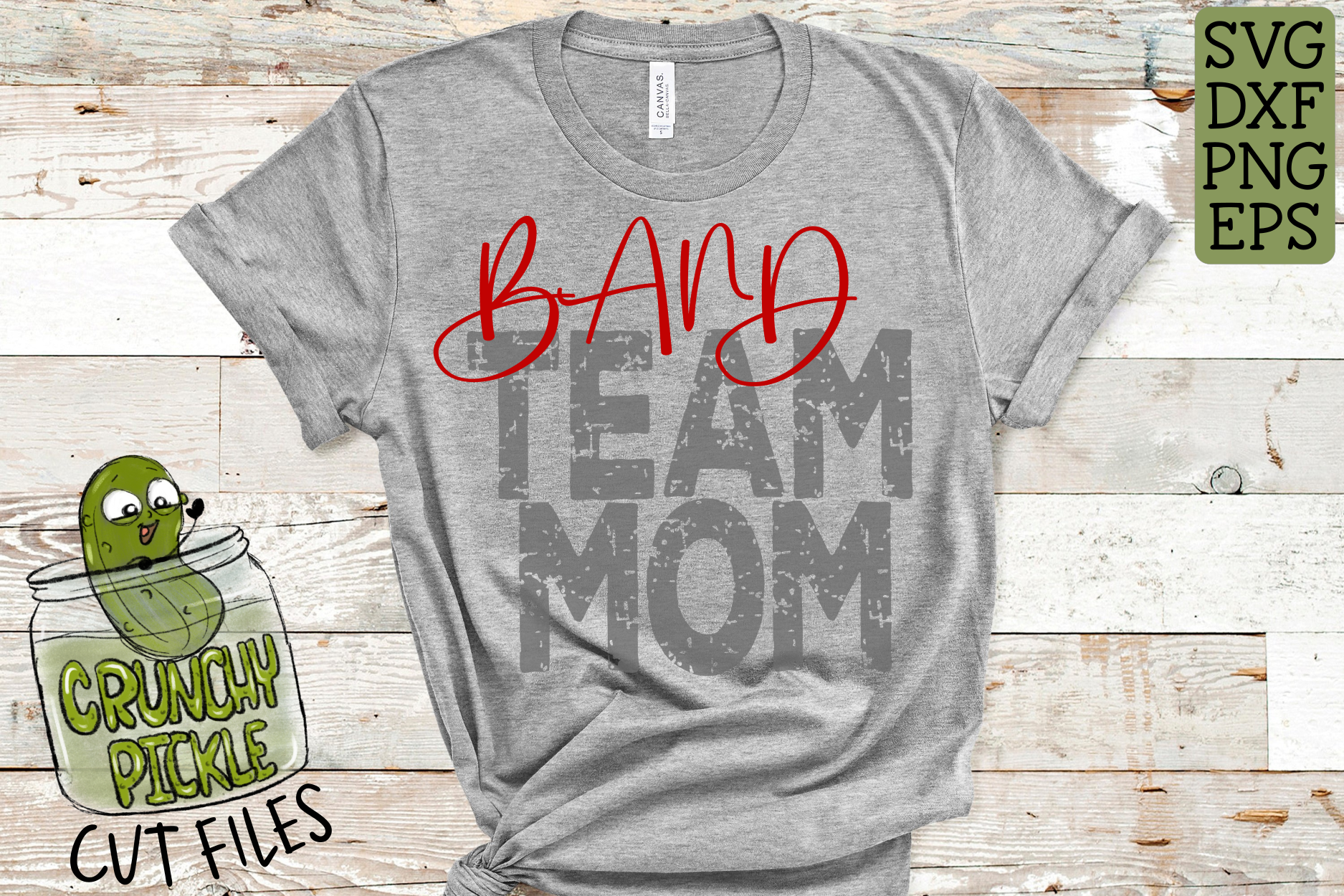 Band Mom & Bonus Team Mom Sports SVG Cut File example image 3