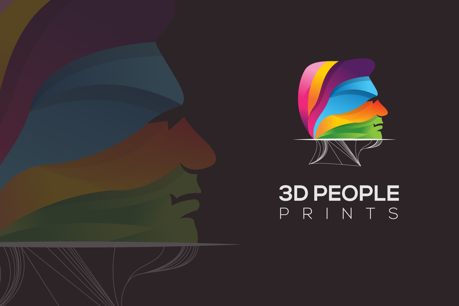 3d people print logo example image 1