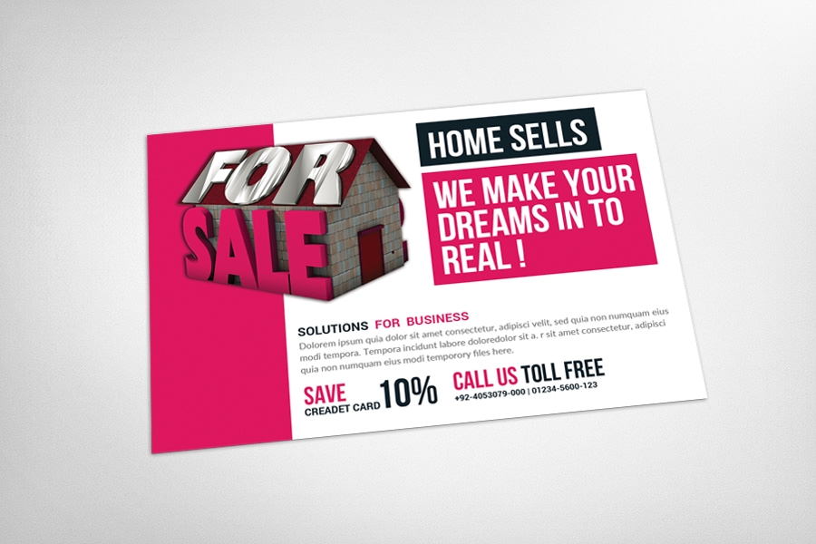 Real Estate Postcard Template example image 3