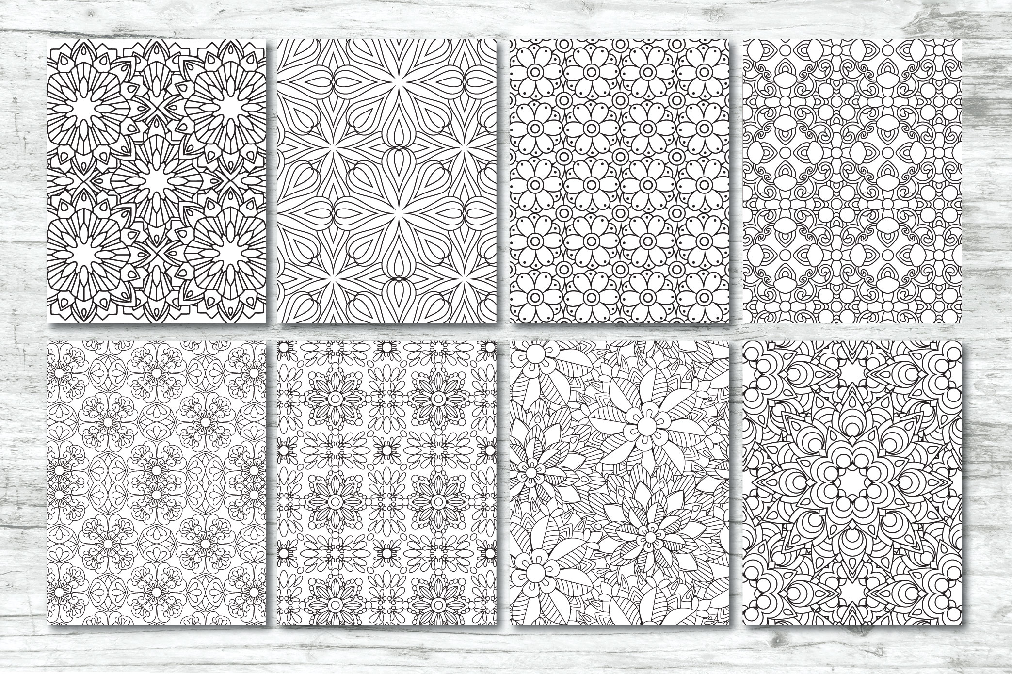 50 Geometric Coloring Pages example image 6