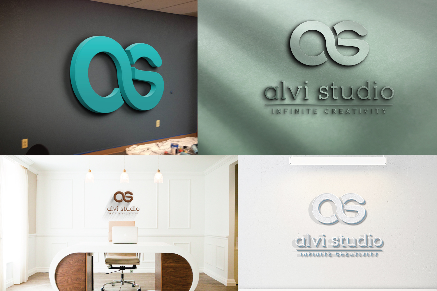 8 3d wall logo mock up example image 3