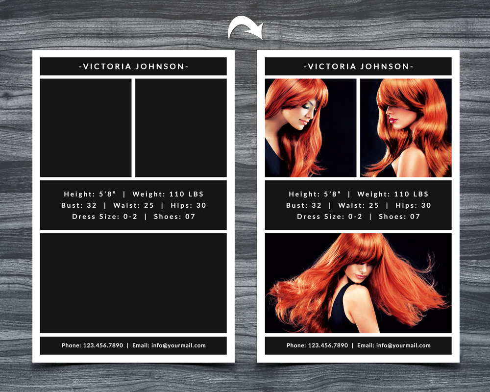Model Comp Card Template example image 2