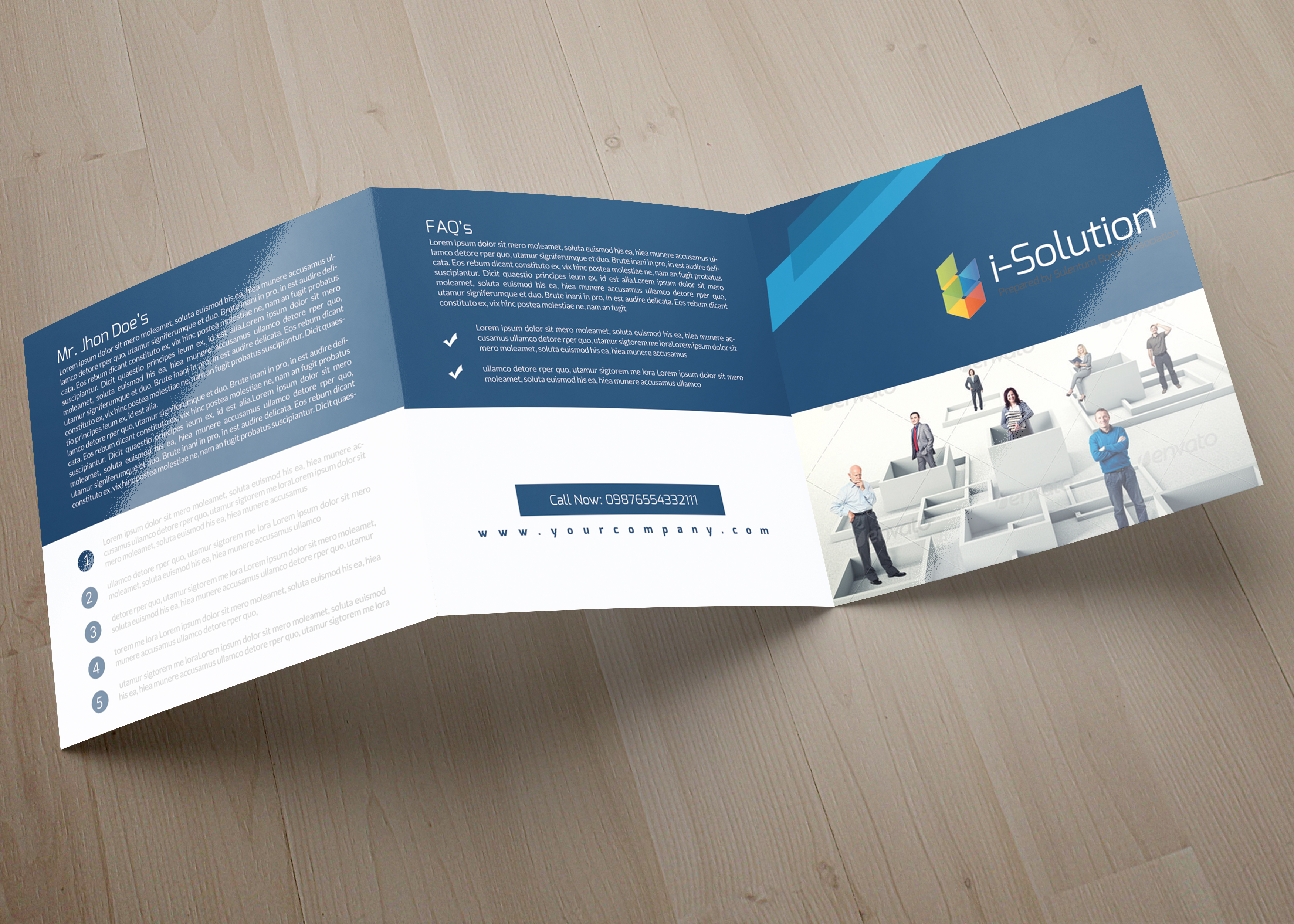 Professional Business Square Trifold Brochure example image 3