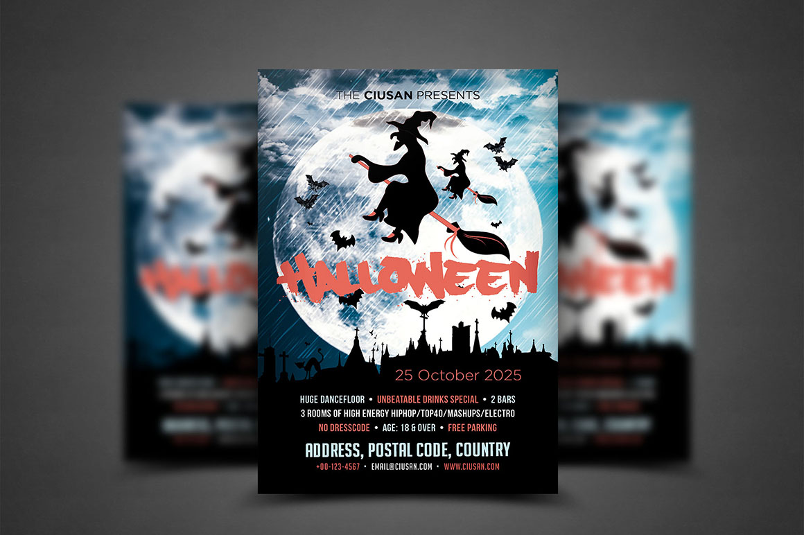 Halloween Flyer Template - Bundle example image 5