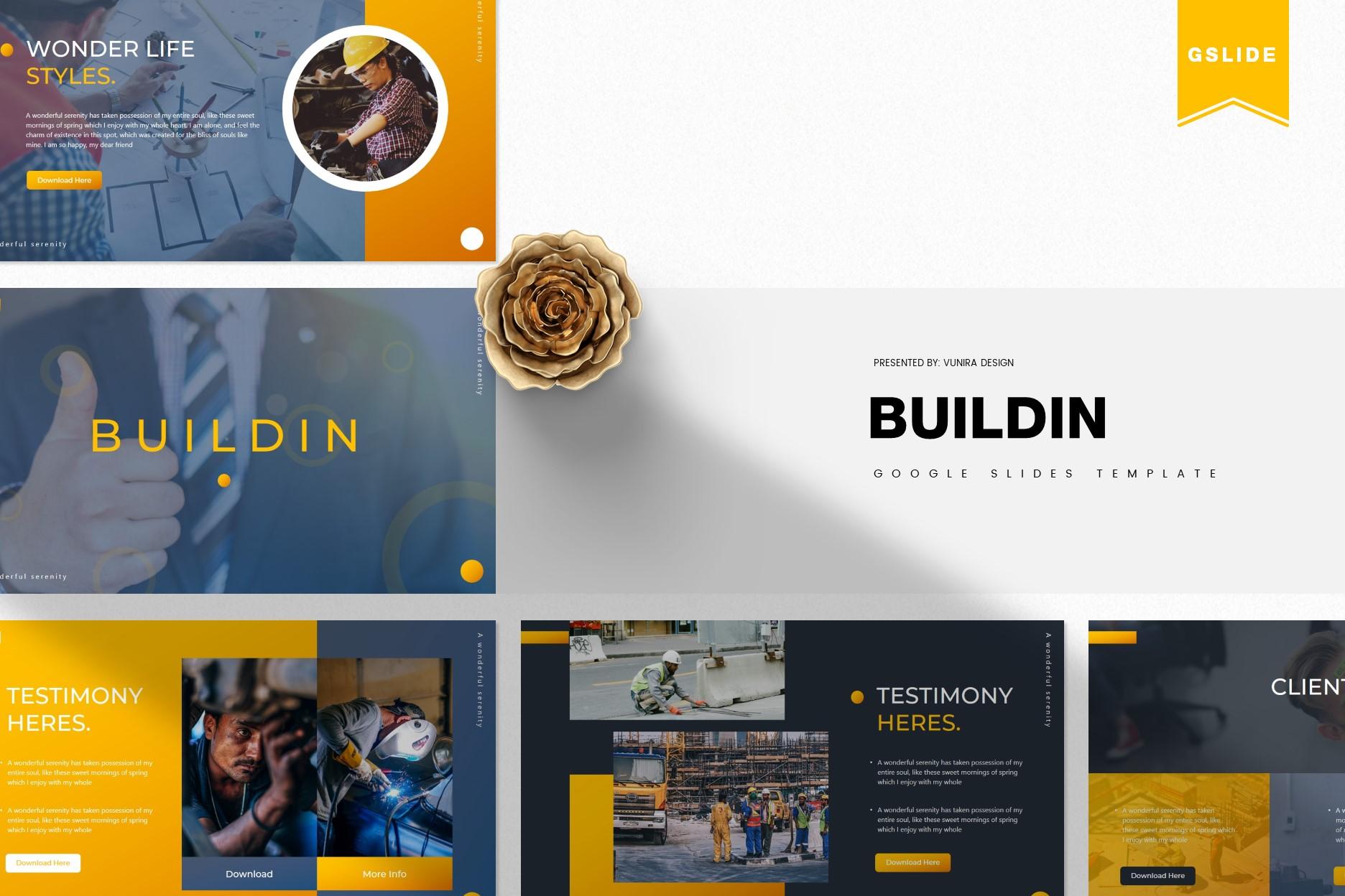 Buildin | Powerpoint, Keynote, GoogleSlides Template example image 3