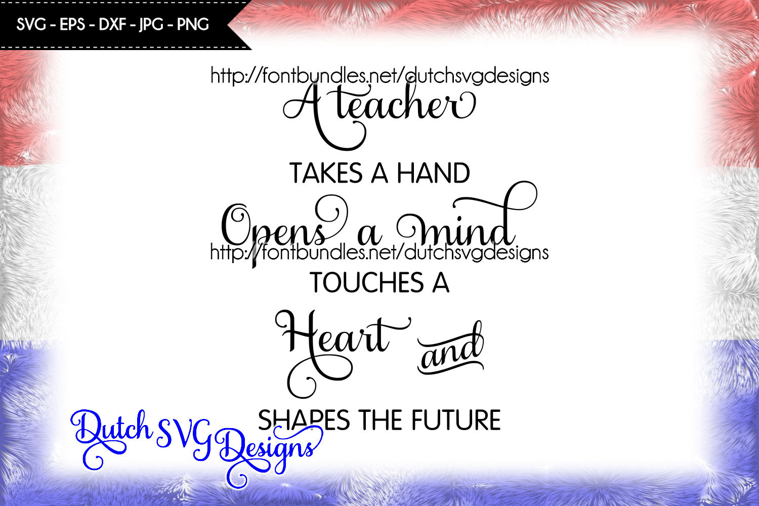Text cutting file Teacher example image 1