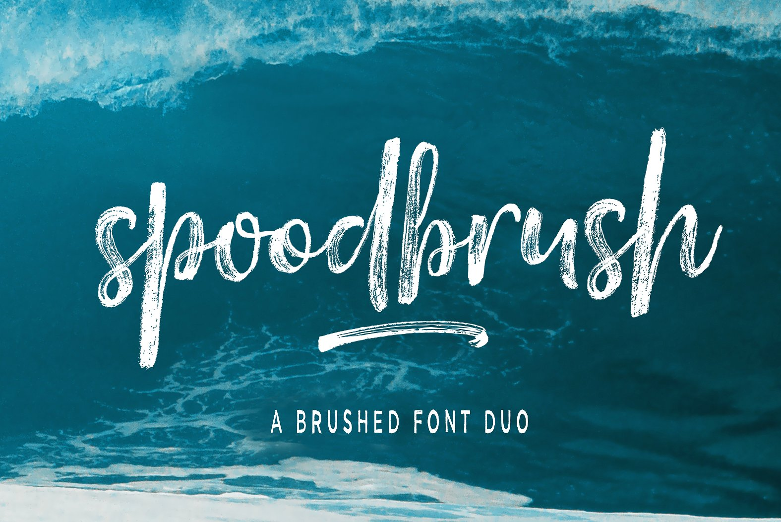 Spoodbrush - Font Duo example image 1