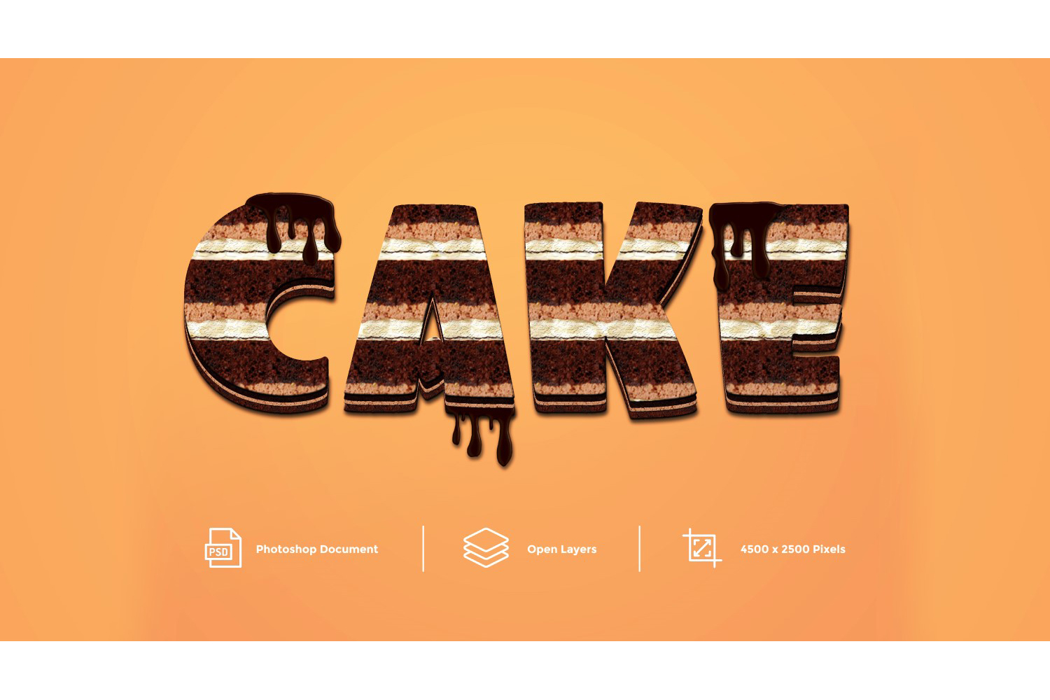 Cake Text Effect Design Photoshop Layer Style Effect example image 1