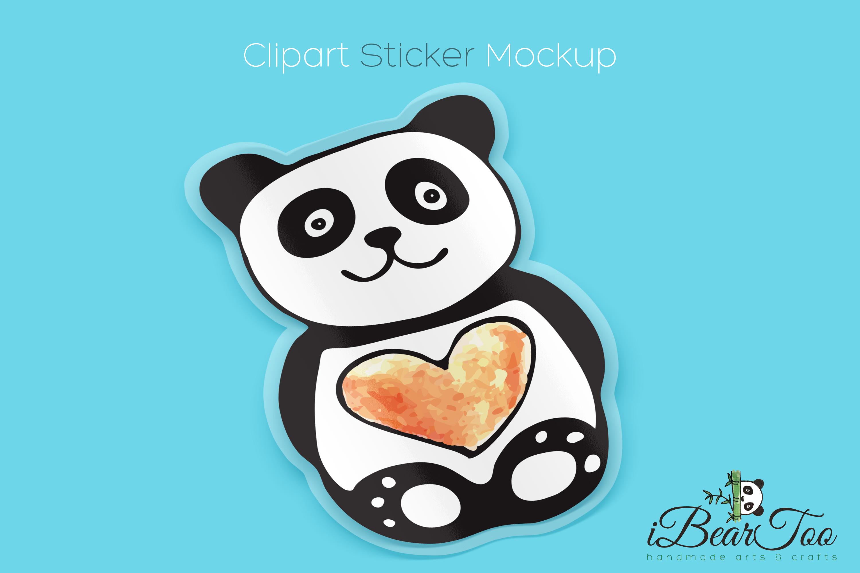 Panda SVG Watercolor Clipart Bear Drawing Vector Cut File example image 7