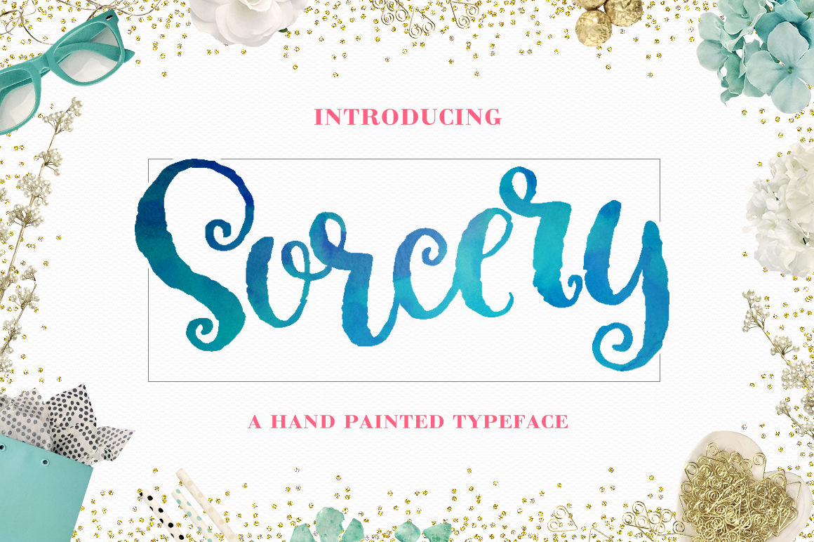 Sorcery Typeface - Brush Script example image 1