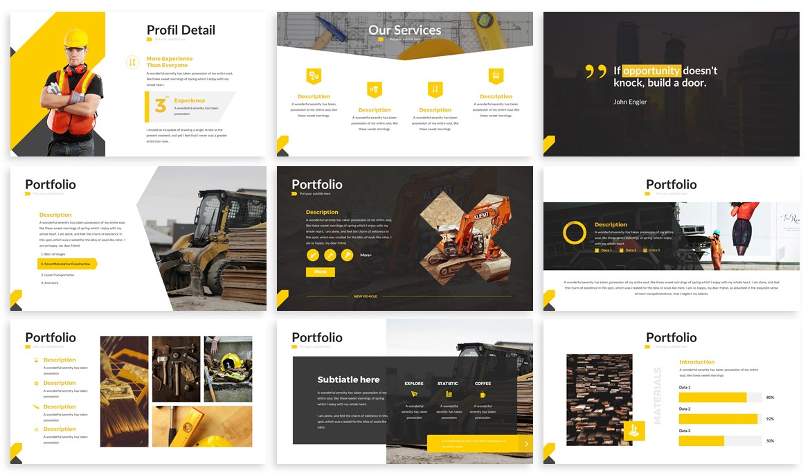 X-Build - Bold Powerpoint Template
