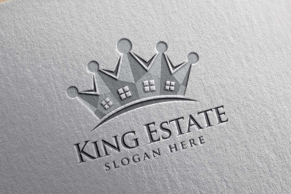 Real Estate Logo, King Estate Logo example image 6