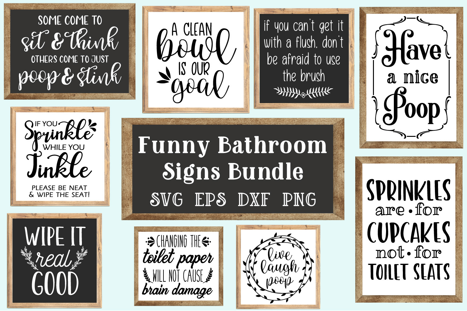 Nerdy image with free printable funny bathroom signs