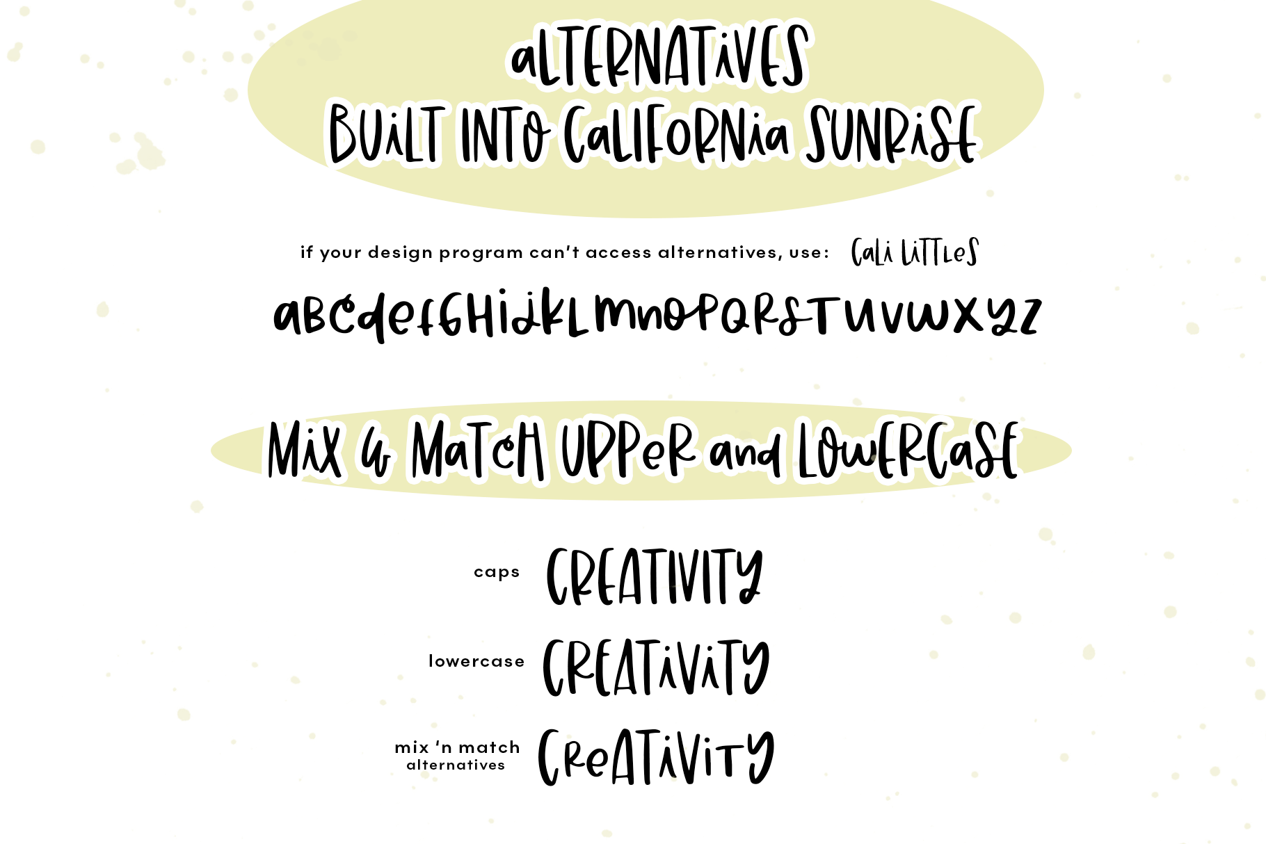 California Sunrise - A Handwritten Font with Alternatives! example image 10