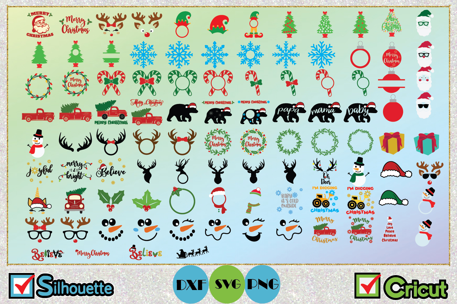 Big Christmas Bundle SVG Cut Files example image 2