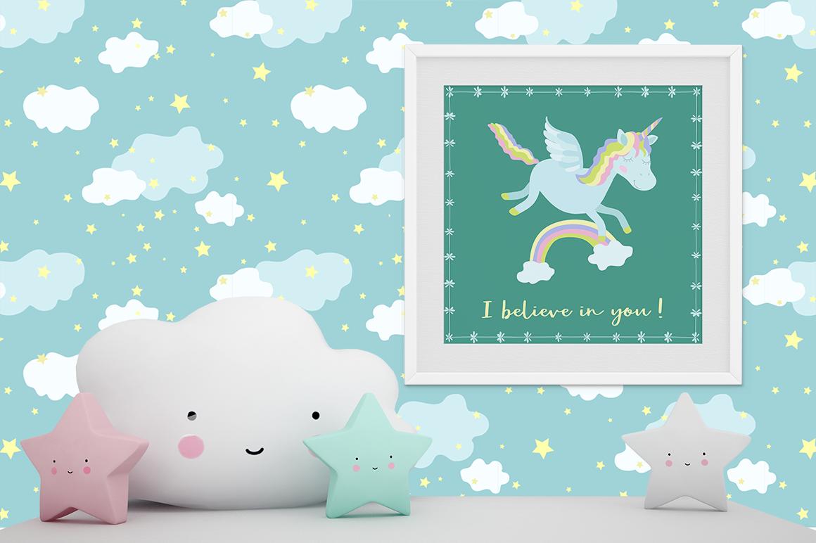 Magic Unicorns Illustration Set example image 3