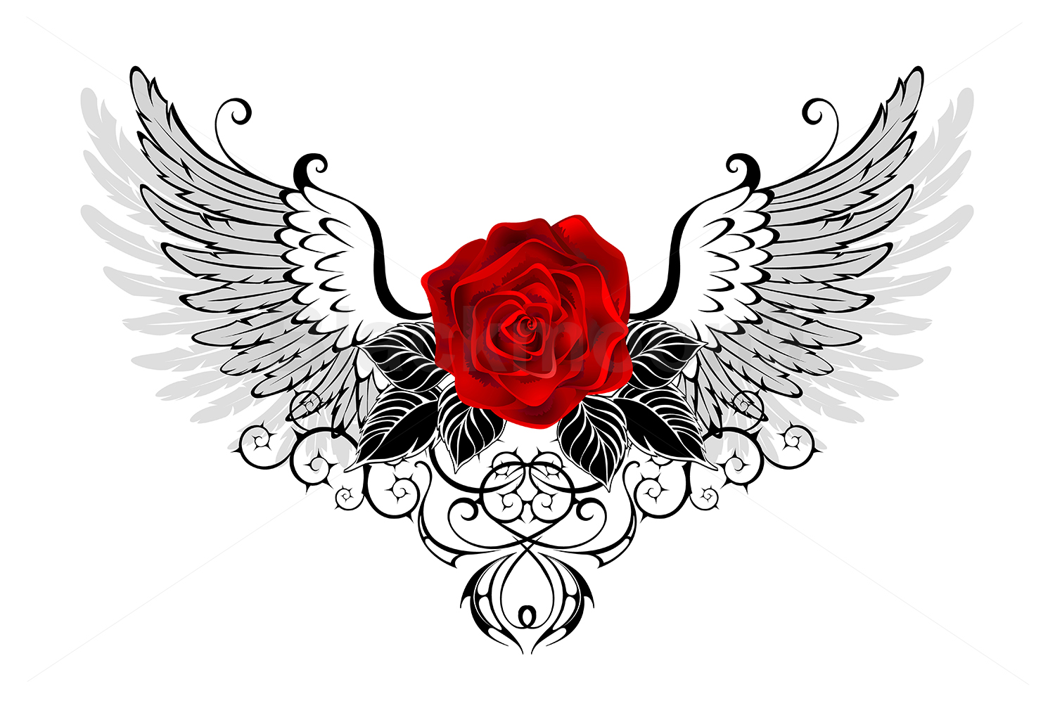 Angel Red Rose example image 1