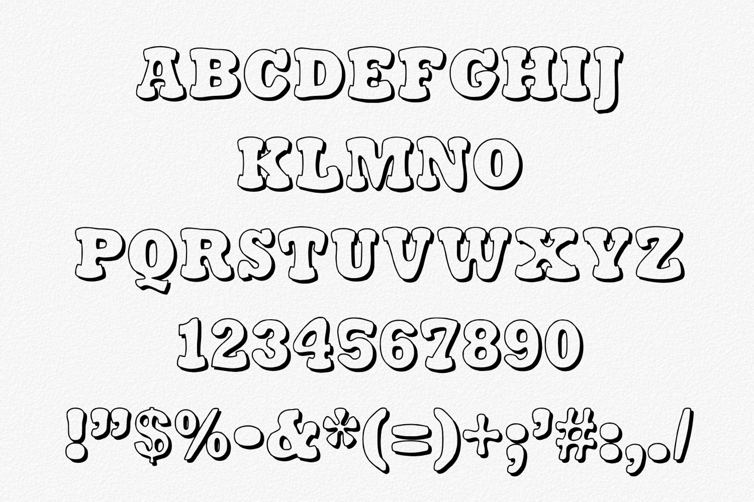 Stampy Light font example image 5
