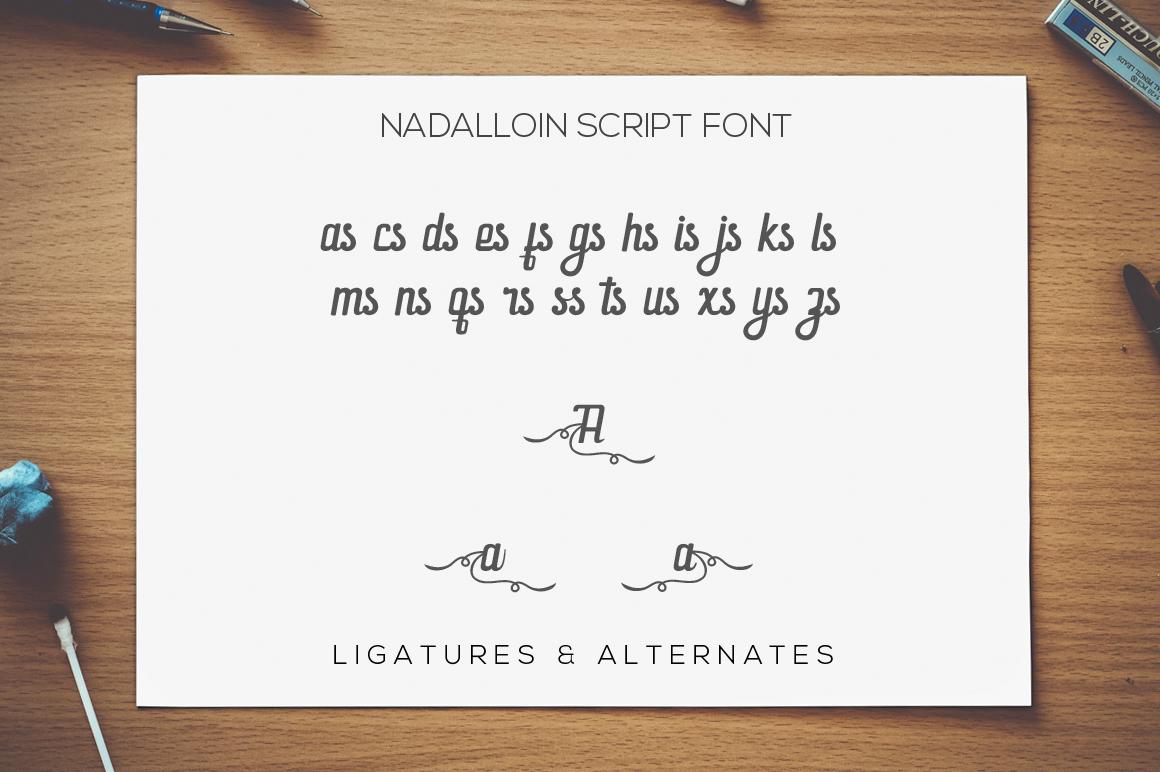 Nadalloin font example image 10