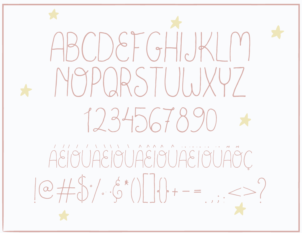 Goodnight Handmade Font example image 2