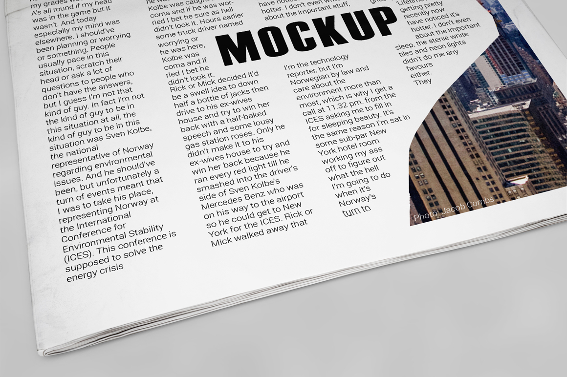 Newspaper Mockup example image 5