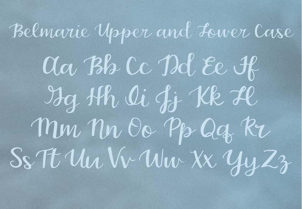 Belmarie Script example image 2